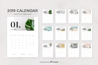 Calendario 2019 mese