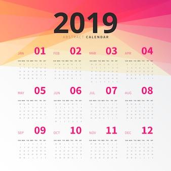 Calendario astratto 2019