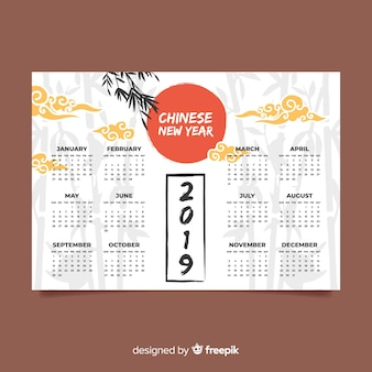 Calendario cinese del nuovo anno 2019