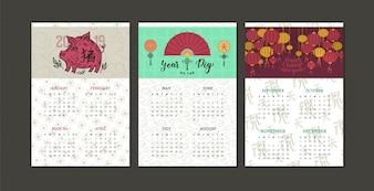 Calendario cinese di nuovo anno 2019