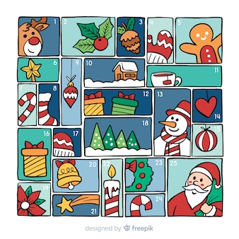 Calendario colorato dell'avvento
