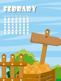 Calendario con cartoni animati