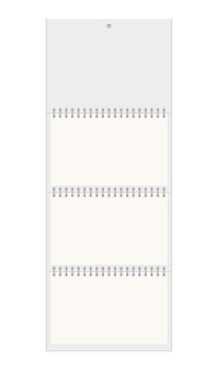 Calendario da parete bianco
