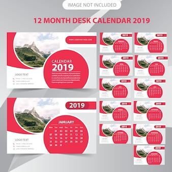 Calendario da tavolo 2019