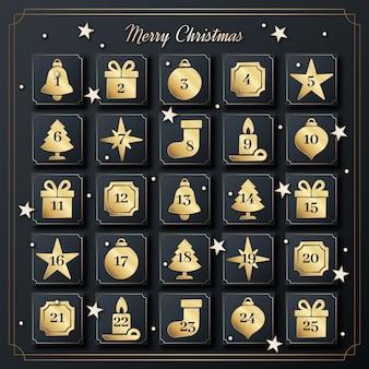 Calendario dell'avvento d'oro