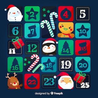 Calendario dell'avvento dei personaggi natalizi