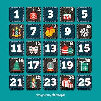 Calendario dell'avvento dei quadrati