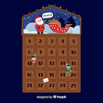 Calendario dell'avvento di babbo natale