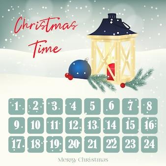 Calendario dell'avvento natalizio