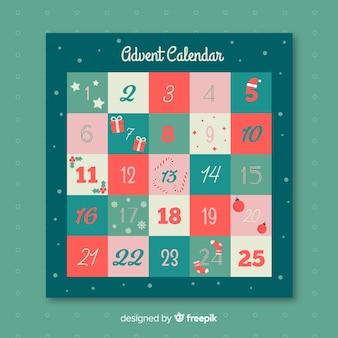 Calendario di natale con uno stile adorabile