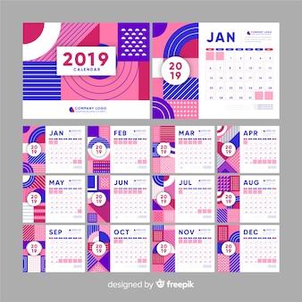 Calendario forme astratte 2019
