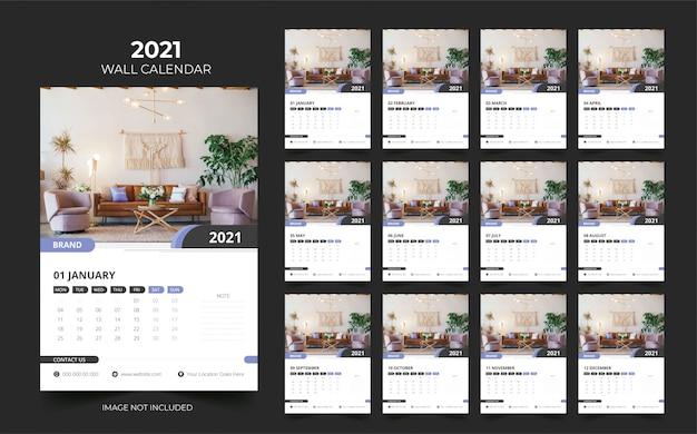 Calendario murale 2021