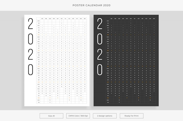 Calendario poster 2020