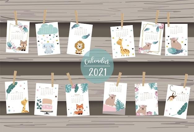 Calendario safari carino