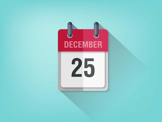 Calendario semplice su sfondo azzurro