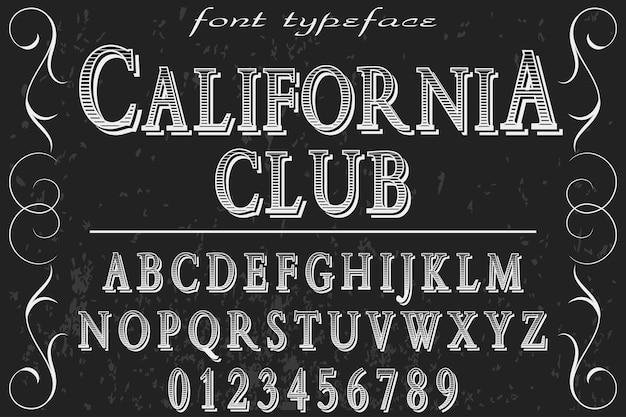 California club alphabetlabel design