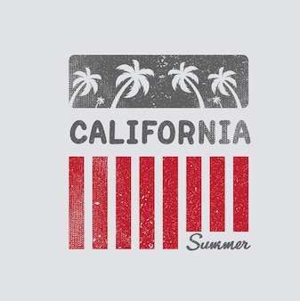 California illustrazione spiaggia