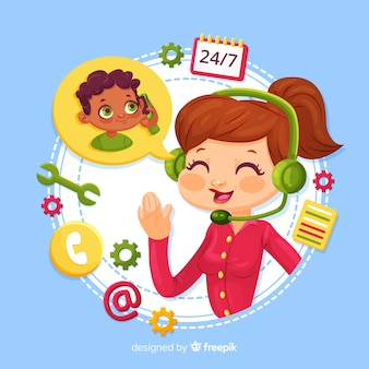 Call center design agente femminile