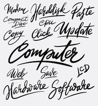 Calligrafia di calligrafia aggiornamento computer