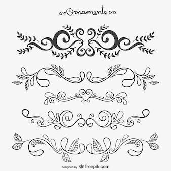 Calligrafici ornamenti floreali