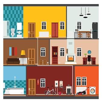 Camere collezione colorata