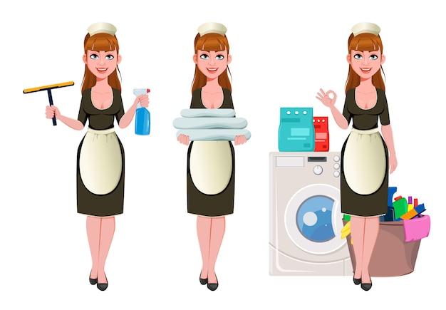 Cameriera, donna delle pulizie, donna delle pulizie