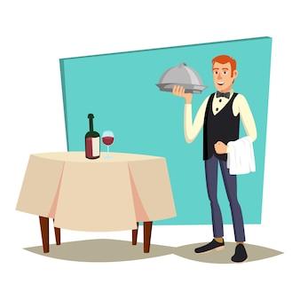 Cameriere al ristorante