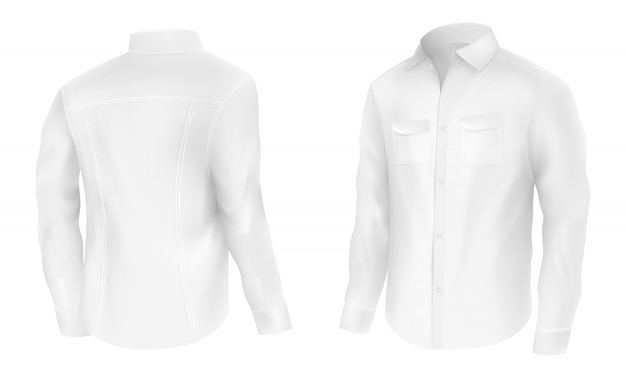 Camicia bianca da uomo classica