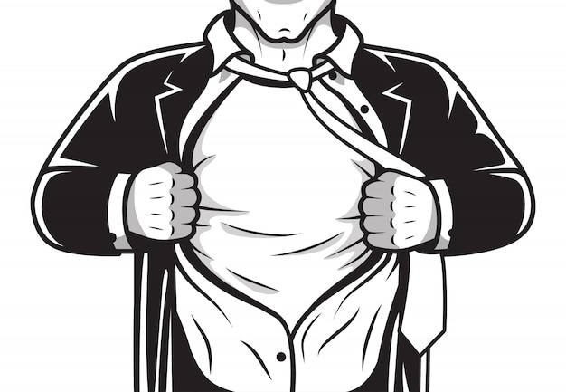 Camicia da eroe comica