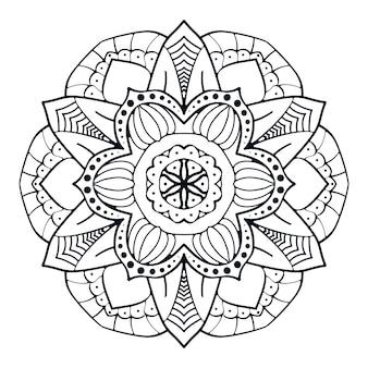 Camicia della mandala di vettore dell'illustrazione del fiore della mandala