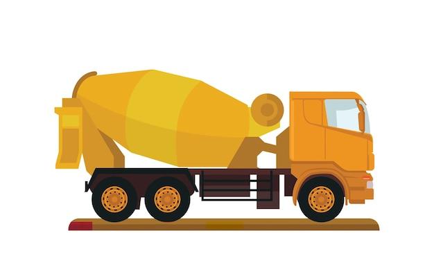 Camion betoniera di cemento da costruzione