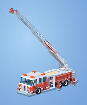 Camion dei pompieri basso poli