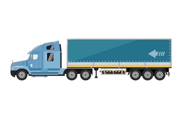 Camion del trasporto isolato su bianco