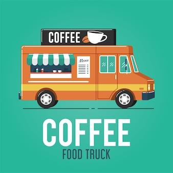 Camion di cibo al caffè