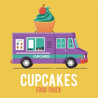 Camion di cibo cupcakes