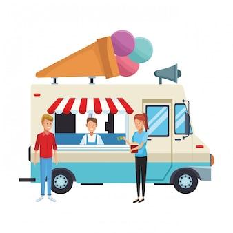 Camion di cibo gelato