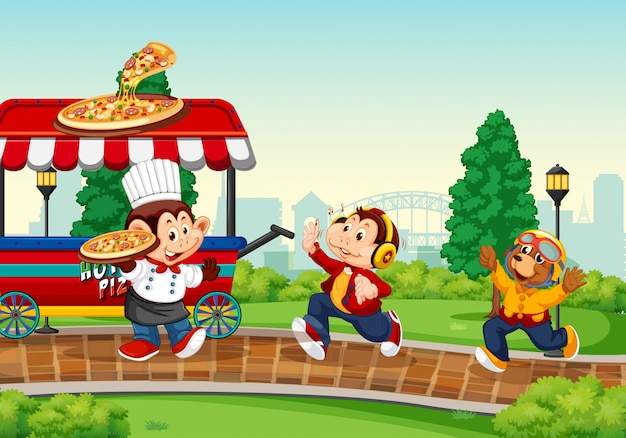 Camion di cibo nel parco