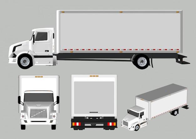 Camion diversi punti di vista e lati