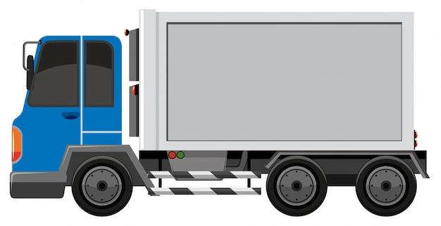 Camion isolato su sfondo bianco