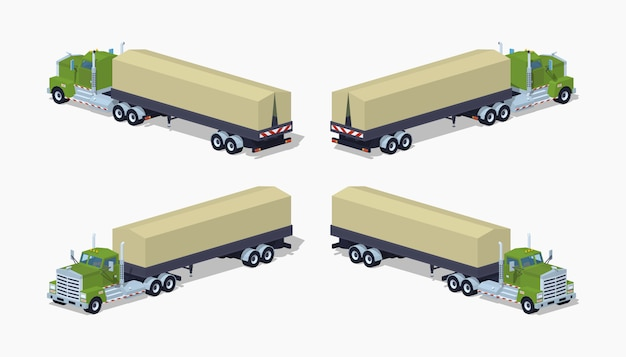 Camion pesante isometrico 3d lowpoly