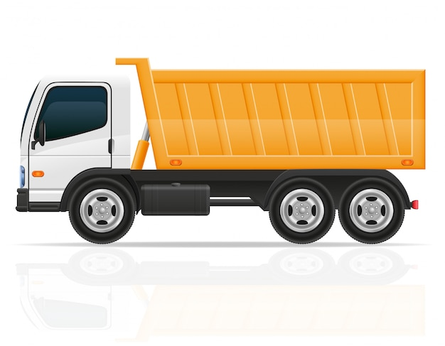 Camion ribaltabile per l'illustrazione di vettore della costruzione