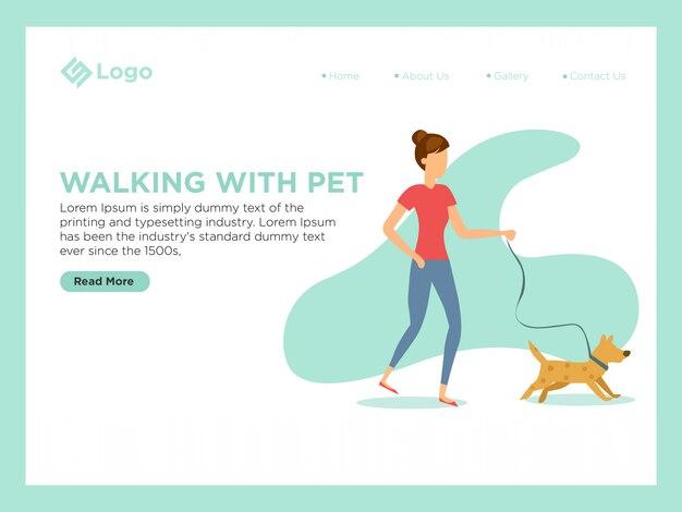 Camminando con animali domestici