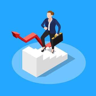 Camminando di sopra concetto di affari