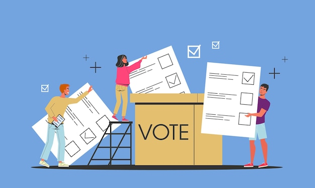 Campagna elettorale. la gente vota per il candidato