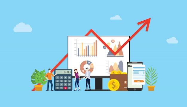Campagna finanziaria di budget marketing digitale