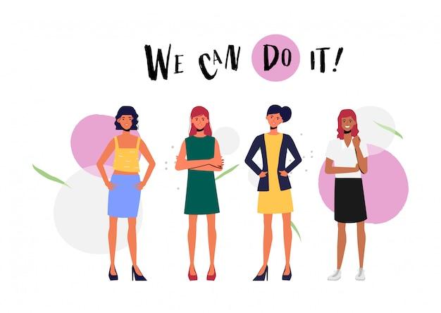 Campagna internazionale per la festa della donna per l'illustrazione della signora