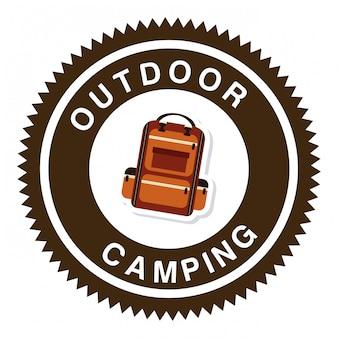 Campeggio in foresta