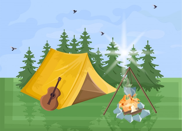 Campeggio sfondo