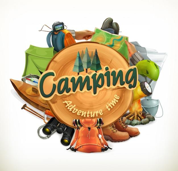 Campeggio. tempo di avventura, illustrazione