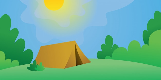 Camping ground on vector